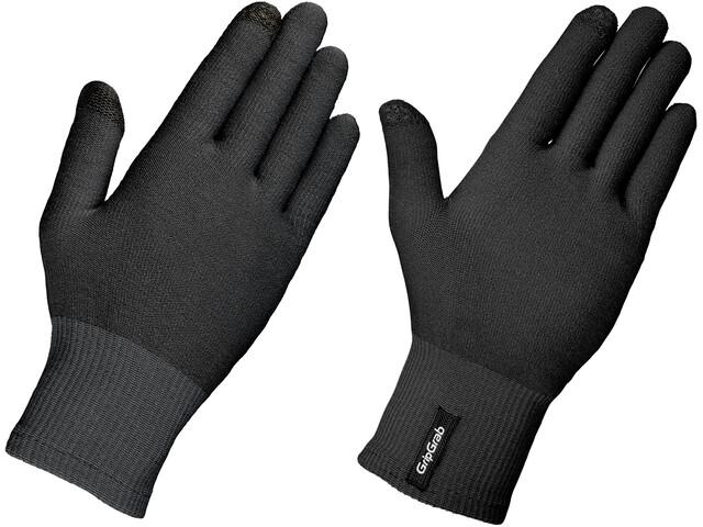 GripGrab Merino Liner Gants, black